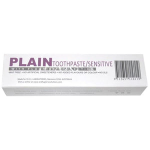 Plain Toothpaste for Sensitive Teeth - Due in store by April 28