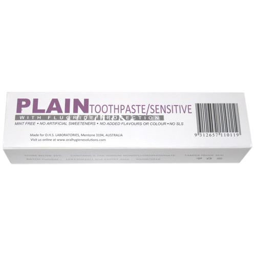 Plain Toothpaste for Sensitive Teeth