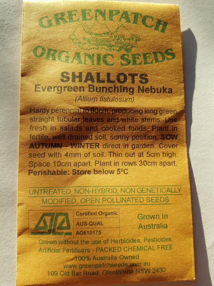 Green Patch Organic Seeds - Shallots