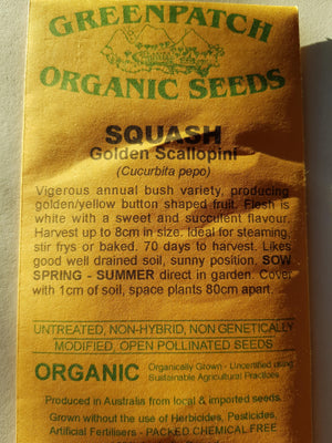 Green Patch Organic Seeds  - Squash