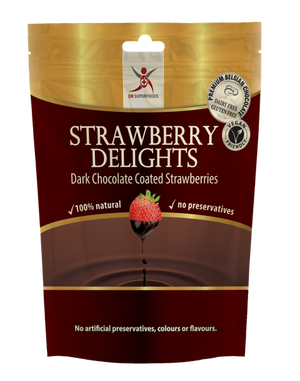 Dr Superfoods - Dark Chocolate Strawberries - 125g