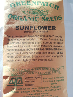 Green Patch Organic Seeds  - Sunflower