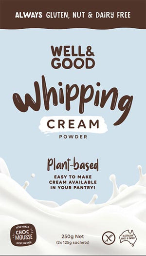 Well and Good Plant Based Whipping Cream Powder