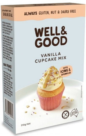 Well & Good Vanilla Cupcake Mix - 510g