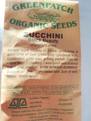 Green Patch Organic Seeds - Zucchini