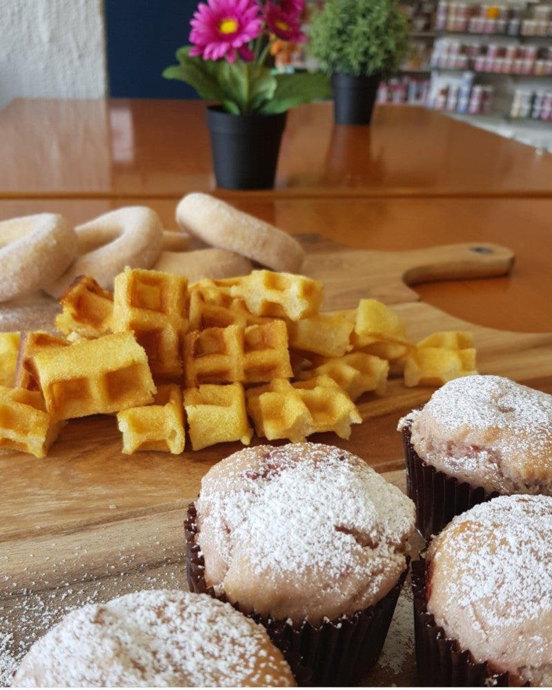 Allergy Train now have Waffles, Doughnuts, biscuits and much more.