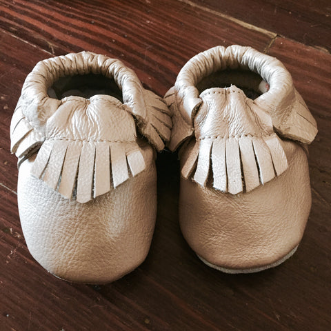 Leather Baby Moccasins - A Little Sugar