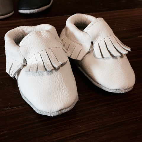 Leather Baby Moccasins - Clean Slate