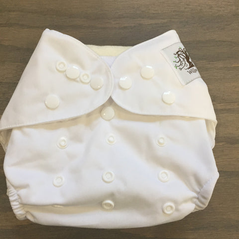 Willow Diaper Cover - White