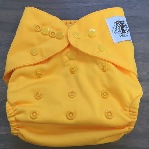 Willow Diaper Cover - Yellow