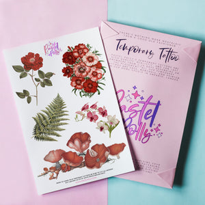 Vintage Florals Temporary Tattoo Pack