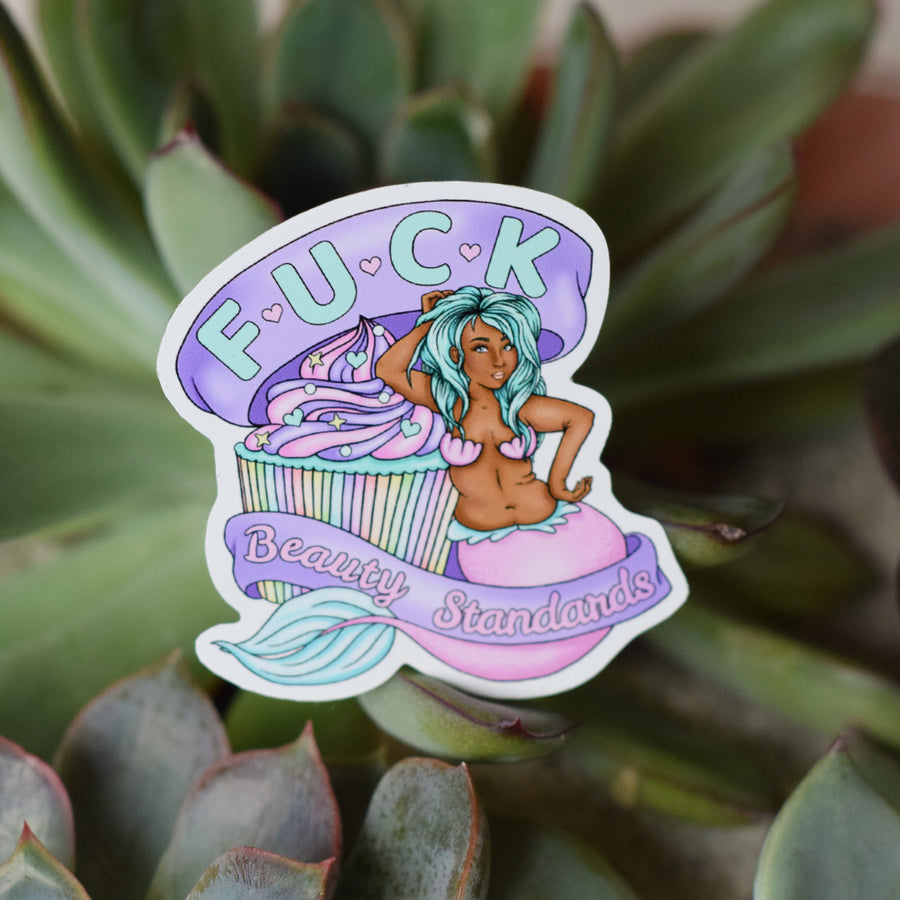 Fuck Beauty Standards Sticker - Black