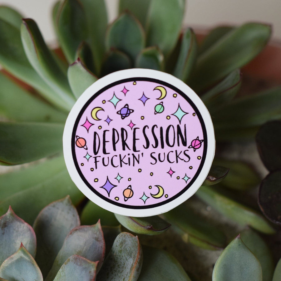 Sticker - Depression Fuckin' Sucks