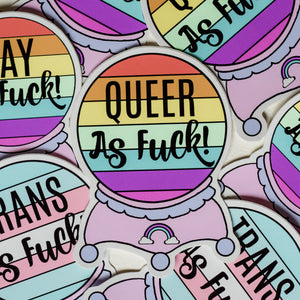 Sticker - Queer As Fuck Sticker