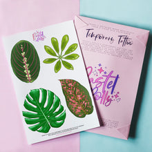 Load image into Gallery viewer, Temporary Tattoo - Leafy Greens Temporary Tattoo Pack