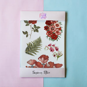 Temporary Tattoo - Vintage Florals Temporary Tattoo Pack