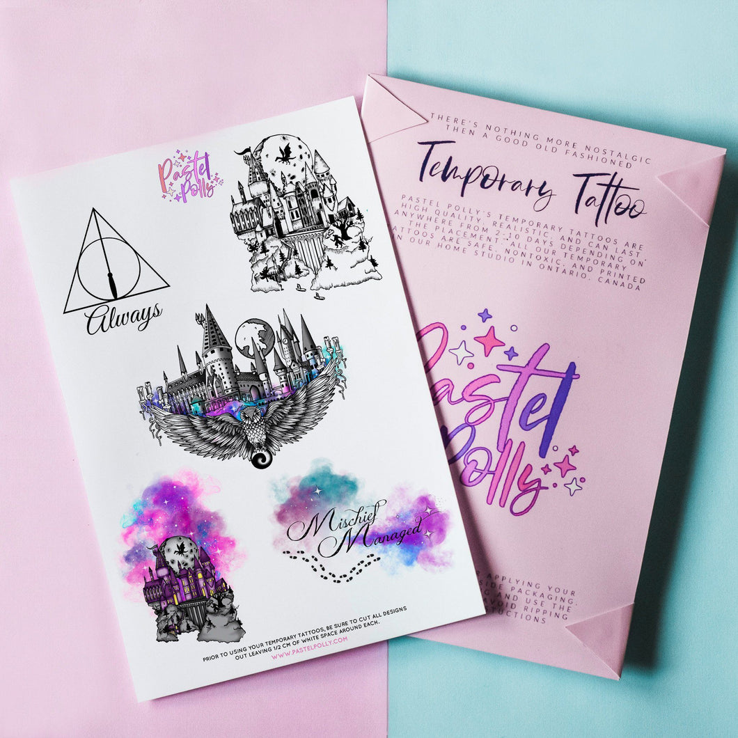 Temporary Tattoo - Witches And Wizards Temporary Tattoo Pack