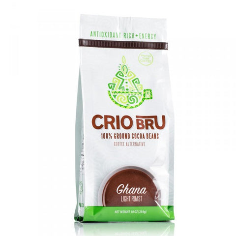 Crio Bru Ghana Light Roast Ground Cocoa Bean 10 oz bag