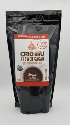 Crio Bru Maya Light Roast Ground Cocoa Beans - 1.5 lb - Amarillo Grape and Olive