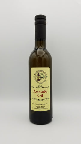 Avocado Oil - Expeller Pressed - 375ml - Amarillo Grape and Olive