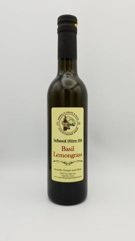 Basil Lemongrass Infused Olive Oil - Amarillo Grape and Olive