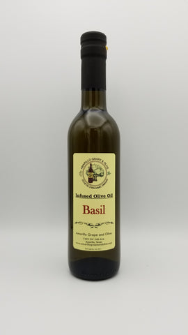 Basil Infused Olive Oil - Amarillo Grape and Olive