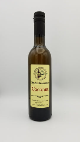 Coconut White Balsamic Vinegar - Amarillo Grape and Olive