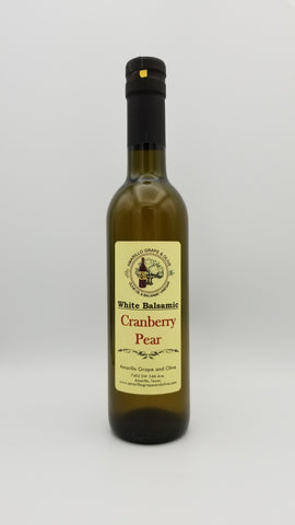 Cranberry Pear White Balsamic Vinegar - Amarillo Grape and Olive