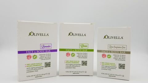Olivella - Face and Body Bar Soap - Amarillo Grape and Olive