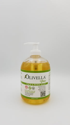 Olivella - Face and Body Soap w/ Pump - Amarillo Grape and Olive