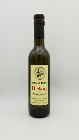 Hickory Infused Extra Virgin Olive Oil - Amarillo Grape and Olive