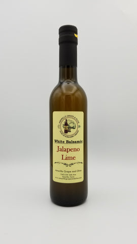 Jalapeno Lime White Balsamic Vinegar - Amarillo Grape and Olive