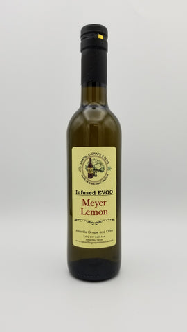 Natural Meyer Lemon Infused Extra Virgin Olive Oil - Amarillo Grape and Olive