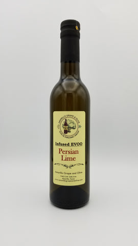 Natural Persian Lime Infused Extra Virgin Olive Oil - Amarillo Grape and Olive