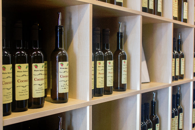 Sample all of our olive oils and balsamic vinegar flavors