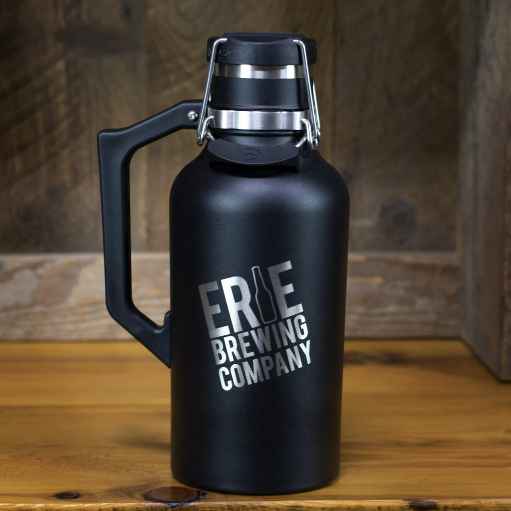 64 oz. Stainless Drink Tank™ Insulated Growler with Stainless EBC Logo (Black)