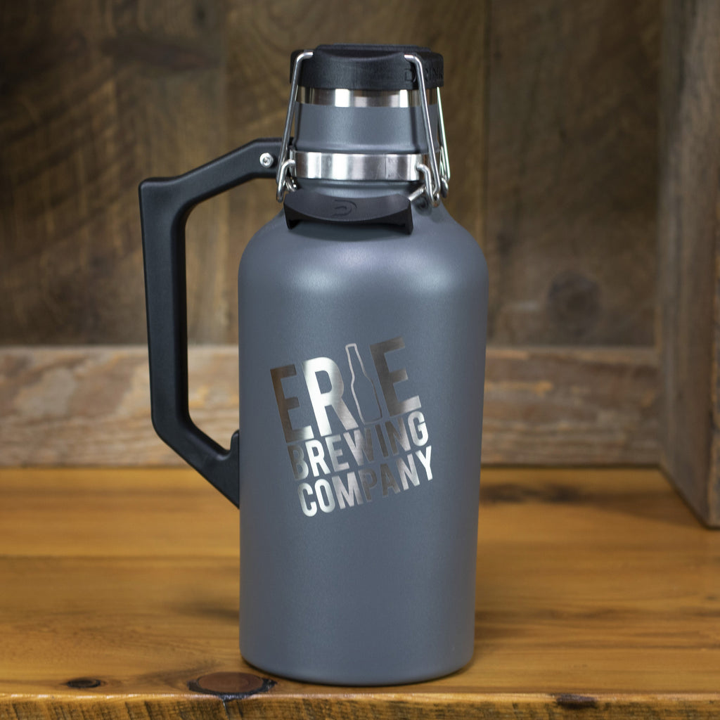 64 oz. Stainless Drink Tank™ Insulated Growler with Stainless EBC Logo (Grey Moab)