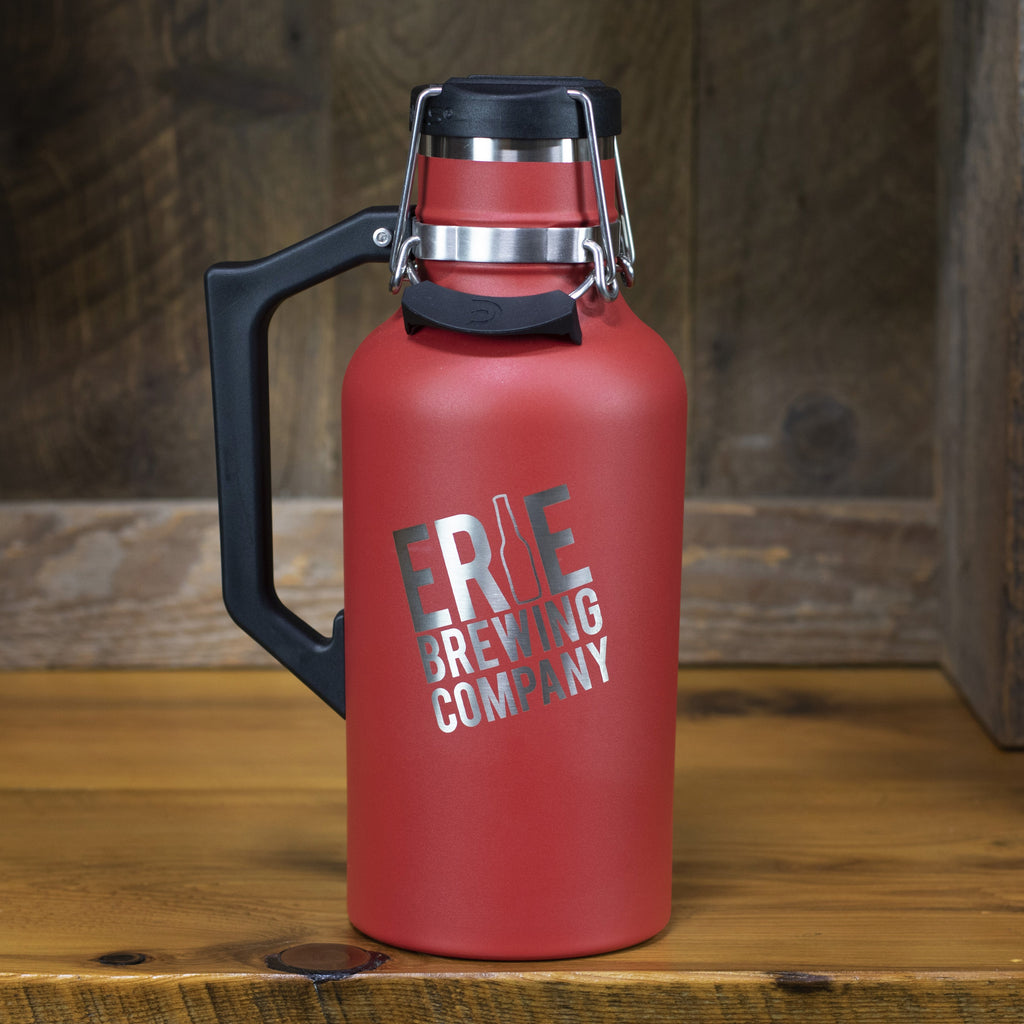 64 oz. Stainless Drink Tank™ Insulated Growler with Stainless EBC Logo (Crimson)