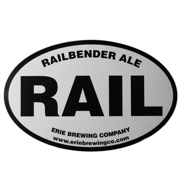 Railbender Sticker - Erie Brewing Company