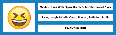 Emoji Smiling Face With Open Mouth and Tightly-Closed Eyes
