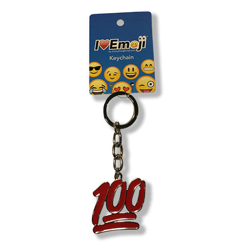 100 Emoji Silver Keychain : Available At Everything Emoji