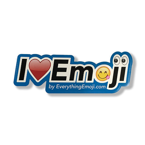 I Luv Emoji Logo Sticker Blue