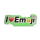I Luv Emoji Logo Sticker Green