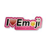I Luv Emoji Logo Sticker Pink