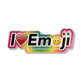 I Luv Emoji Logo Sticker Rainbow