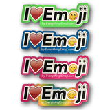 I Luv Emoji Logo Stickers 4 Pack