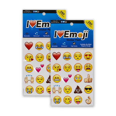 Emoji stickers : Heart Stickers : Smile Stickers : 14 Sheet Sticker Pack :  Everything Emoji