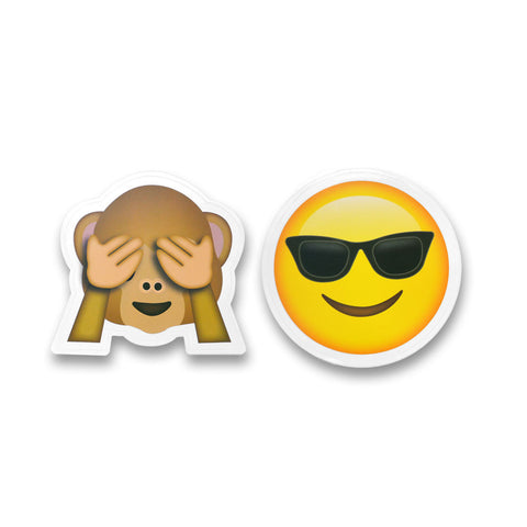 "5"" Emoji Stickers (Monkey See / Sunglasses)"
