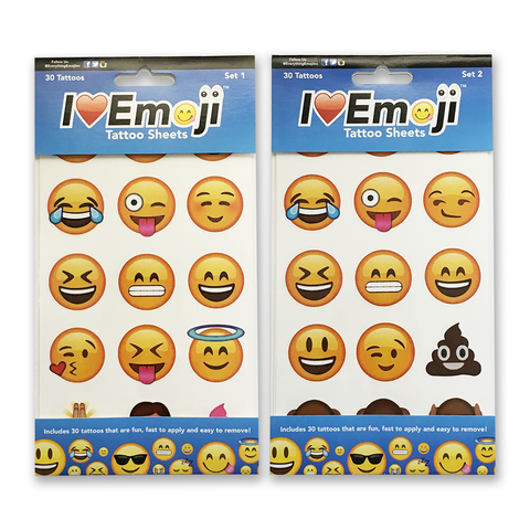 Emoji Body Tattoos 2-Pack