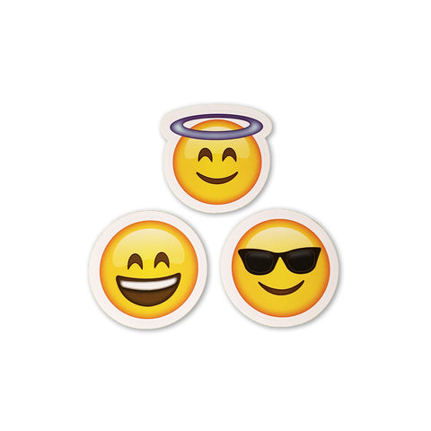 "2"" Emoji Stickers (Halo Emoji / Smile Emoji / Sunglasses Emoji) - Everything Emoji"